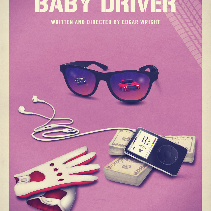 """""""Baby Driver Poster"""" An image of our submission for the Baby Driver poster creative brief by posterspy."""